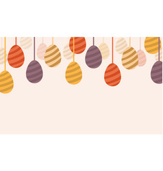 Happy easter egg design art vector