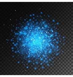 Magic blue glow light effect isolated on vector