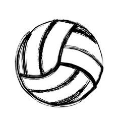 monochrome sketch of volleyball ball vector image vector image
