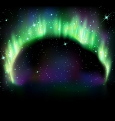 Northern light on black vector