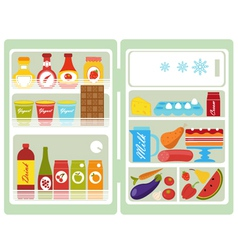 Open fridge vector image