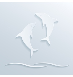 paper dolphins vector image
