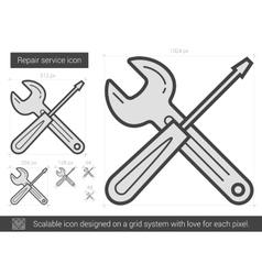 Repair service line icon vector