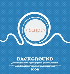 Script sign icon javascript code symbol blue and vector