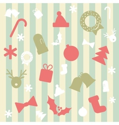 Seamless Background with Christmas Elements vector image vector image