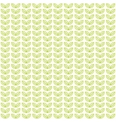 Seamless light pattern with green tea leaves vector image vector image
