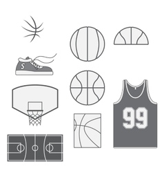 Set of Basketball vintage Design Elements vector image