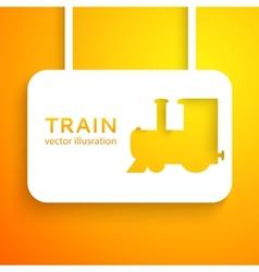 Train applique background vector image vector image