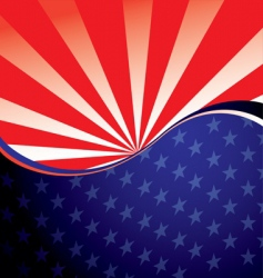 usa radiate background vector image vector image