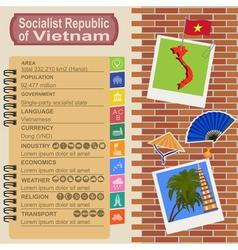 Vietnam infographics statistical data sights vector