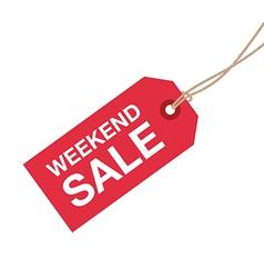 Weekend sale sign vector