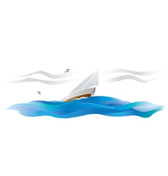 Wind sailing vector