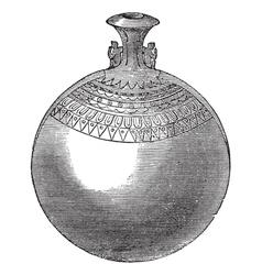 Egyptian aryballos vintage engraving vector