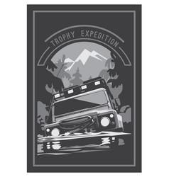 off-road car logo safari suv expedition vector image