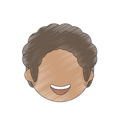 Drawing face man male avatar vector