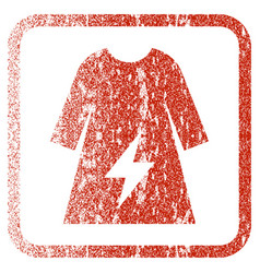 Electricity female dress framed textured icon vector