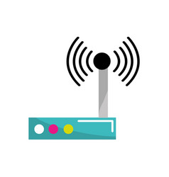 Router connection wifi service icon vector