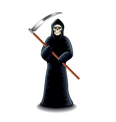 Grim reaper isolated vector