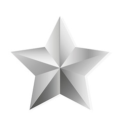 Silver star isolated object vector
