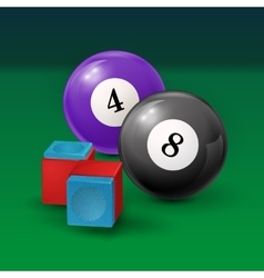 Pool table background with billiard vector