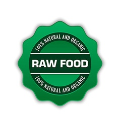 Raw food badge vector