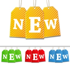 hanging tags with new sign vector image