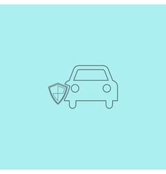 Vehicle shield over background vector
