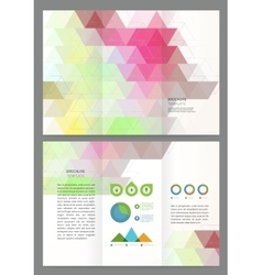 Abstract triangles Brochure Template vector image