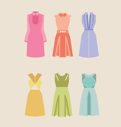 Beautiful woman dresses eps 10 vector image vector image