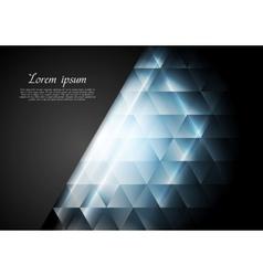 Blue shiny tech background vector