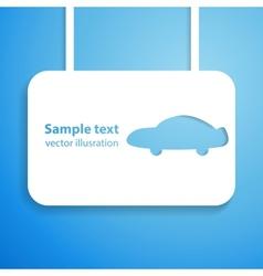 Car applique background vector image vector image