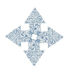 Floral arrow sketch for your design vector image vector image