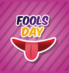Fools day card celebration vector