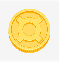 generic currency symbol on gold coin vector image vector image