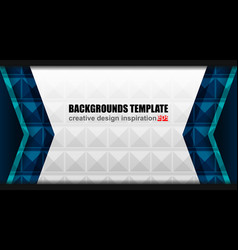 Geometric modern background design vector