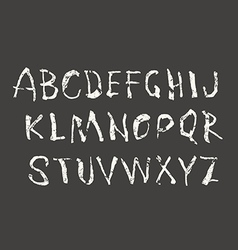 Handwritten brush font with shabby texture vector