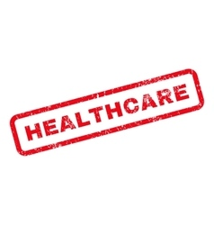 Healthcare Text Rubber Stamp vector image vector image