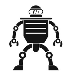 Humanoid robot icon simple style vector