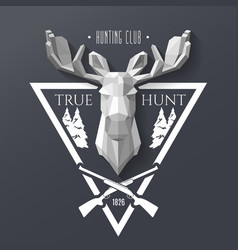 hunter socirty elk vector image vector image