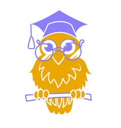 Icon back to school owl vector