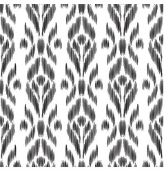 Ikat seamless pattern wallpaper background vector