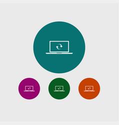 Laptop icon simple vector