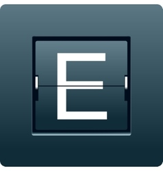 Letter E from mechanical scoreboard vector image vector image
