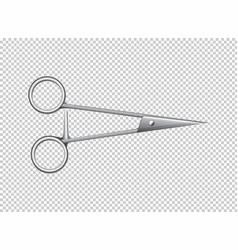 medical scissors on transparent background vector image vector image