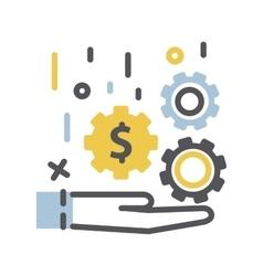 Money in hand icon vector image