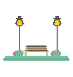 Park scenery view vector