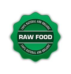 Raw food badge vector image vector image