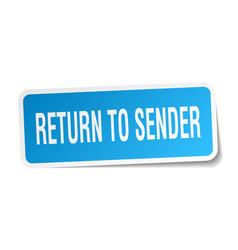 Return to sender square sticker on white vector