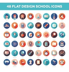 Set of modern flat design school college icons vector image vector image