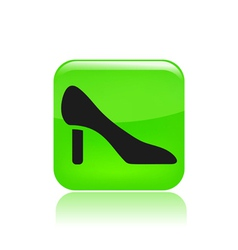 shoe icon vector image